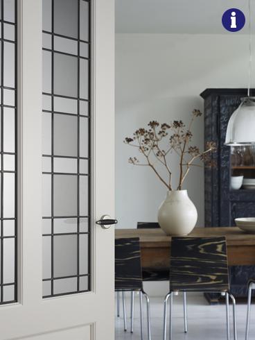klassieke binnendeur glas in lood weekamp