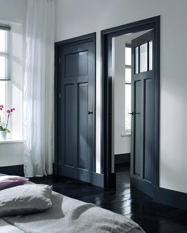 klassieke binnendeur zwarte deuren