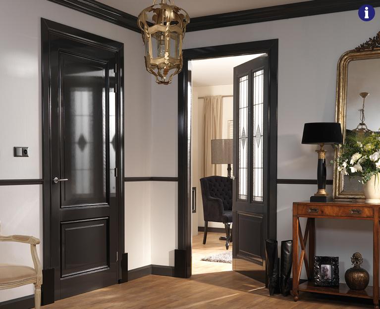 klassieke binnendeuren zwart met kraalprofiel