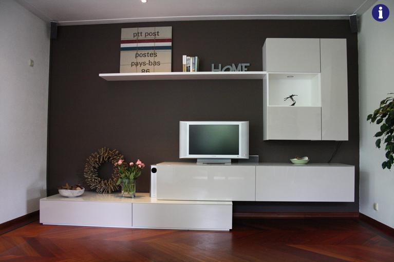 Tv meubel op maat hoogglans wit