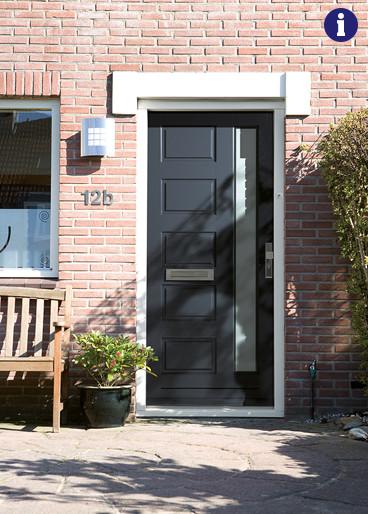 landelijke voordeur antraciet grijs