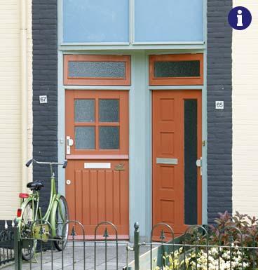 tijdloze voordeur weekamp bruin