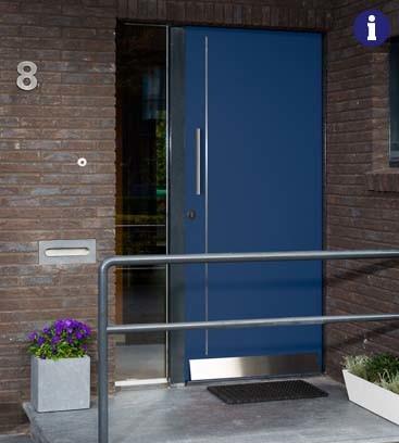 moderne voordeur blauw weekamp
