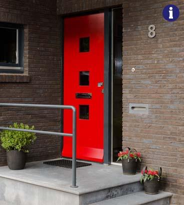 moderne voordeur rood weekamp