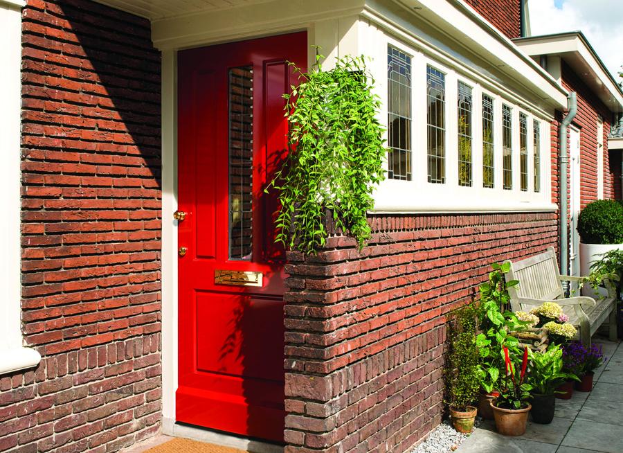 weekamp-landelijke-voordeur-rood