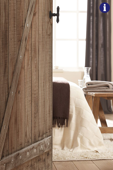 Binnendeur met print oude houtstructuur