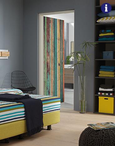 Binnendeur met print houtstructuur