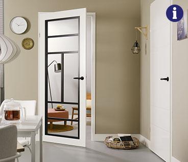 Svedex black & white serie glasdeur