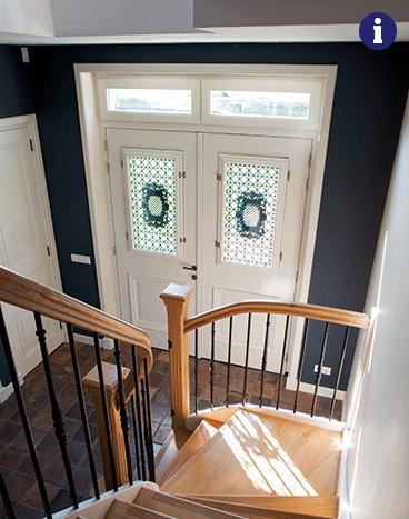 Klassieke voordeur wit