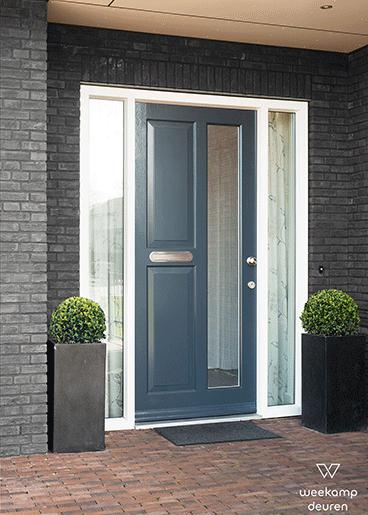 Tijdloze voordeur blauw