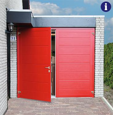 Novoferm duoport garagedeuren rood
