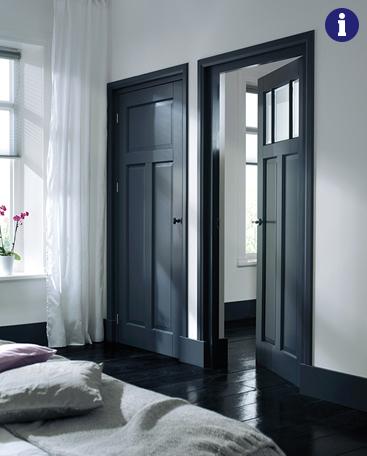 Klassieke binnendeur zwart
