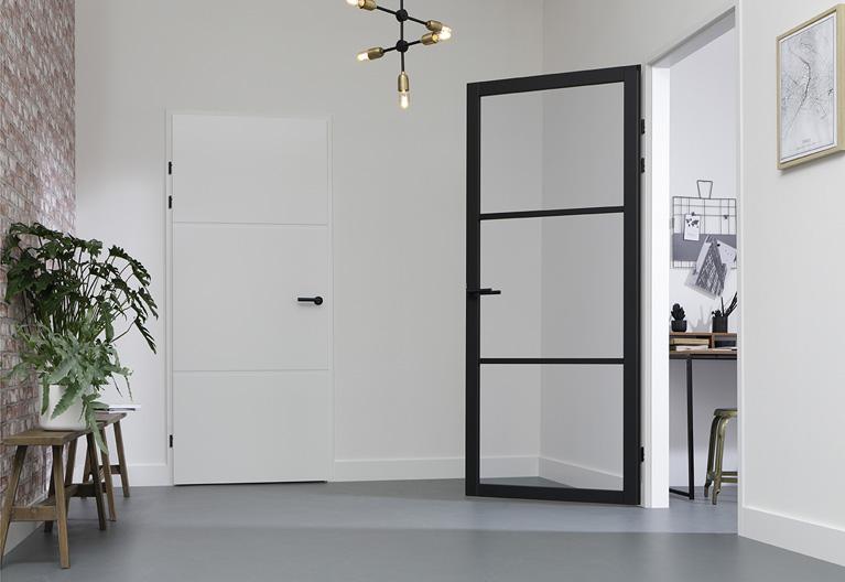 Staal look deur design 13